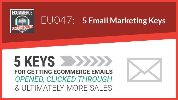 EU047: 5 Keys For Getting eCommerce Emails Opened, Clicked Through, and Ultimately More Sales